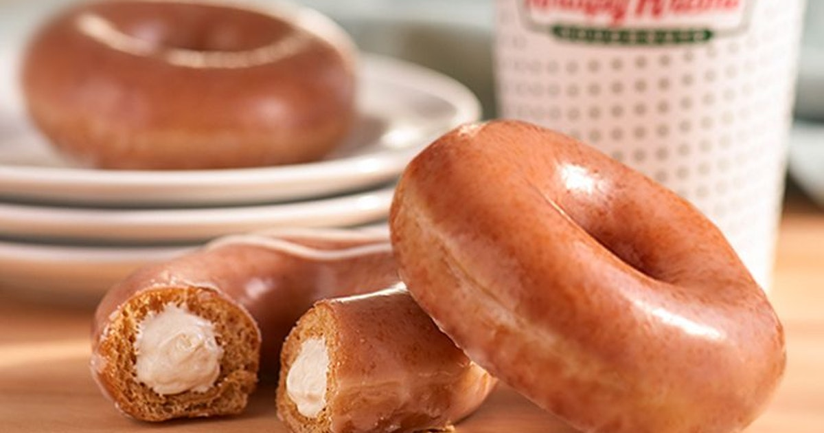 Krispy Kreme's Pumpkin Spice Original Filled Doughnut Is Available For A Limited Time