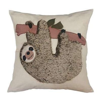 Applique Grey Sloth Cushion