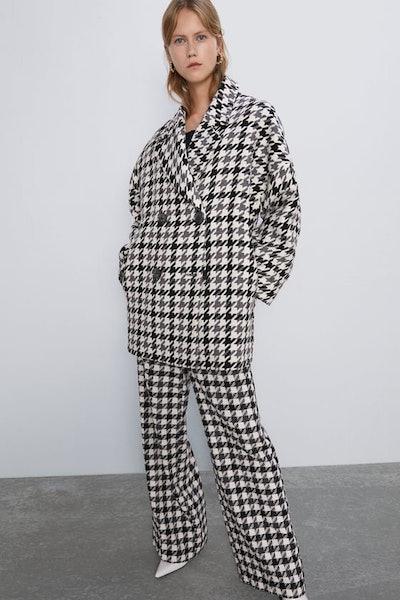 Oversized Jacquard Coat