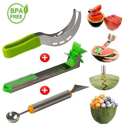 Momugs Stainless Steel Watermelon Slicer Set