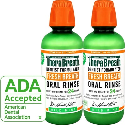 TheraBreath Oral Rinse, 16 Ounce Bottle (2-Pack)