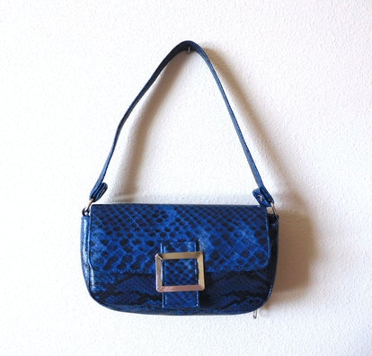 Vintage Faux Snake Shoulder Bag