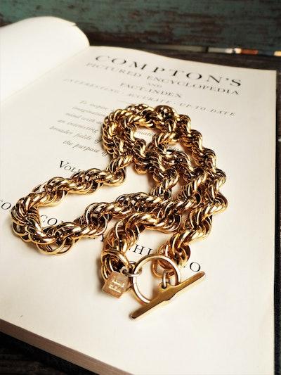 Vintage Chunky Gold Link Necklace