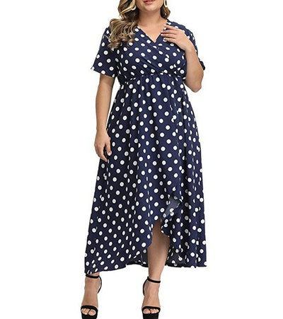 Allegrace Plus Size Printed Maxi Dress