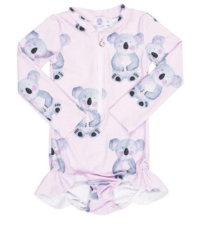 Pink Koala Long Sleeve Swimmers