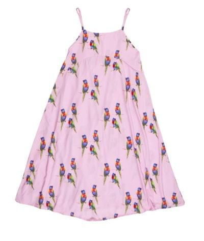 Pink Rainbow Lorikeet Women's Maxi Dress