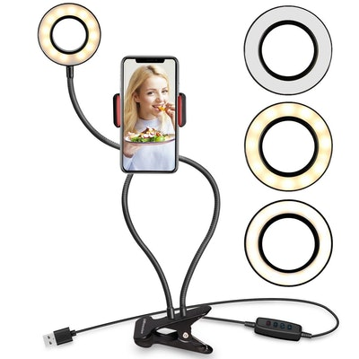 UBeesize Selfie Ring Light With Cell Phone Holder