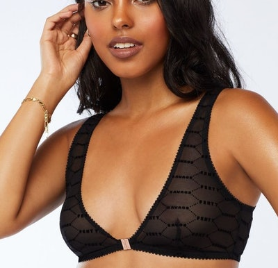 Flocked Logo Bralette
