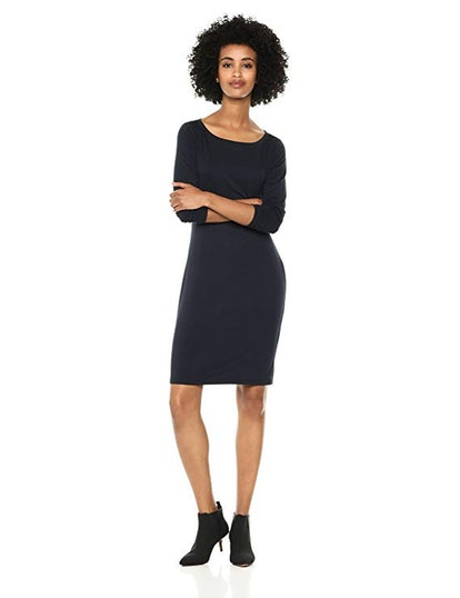 Daily Ritual Bateau-Neck Jersey Dress