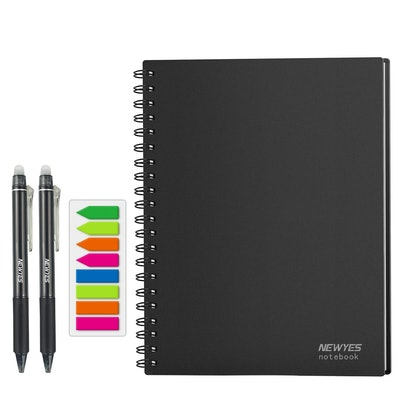Reusable Wirebound College Ruled Smart Notebook With Erasable Pens