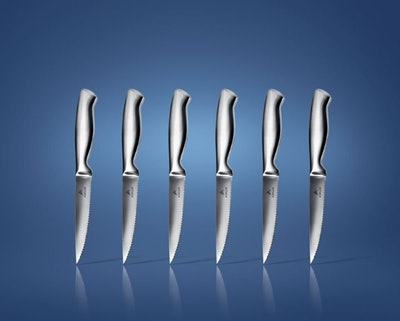 Ashlar Serrated Stainless Steel Steak Knives (6-Pieces)