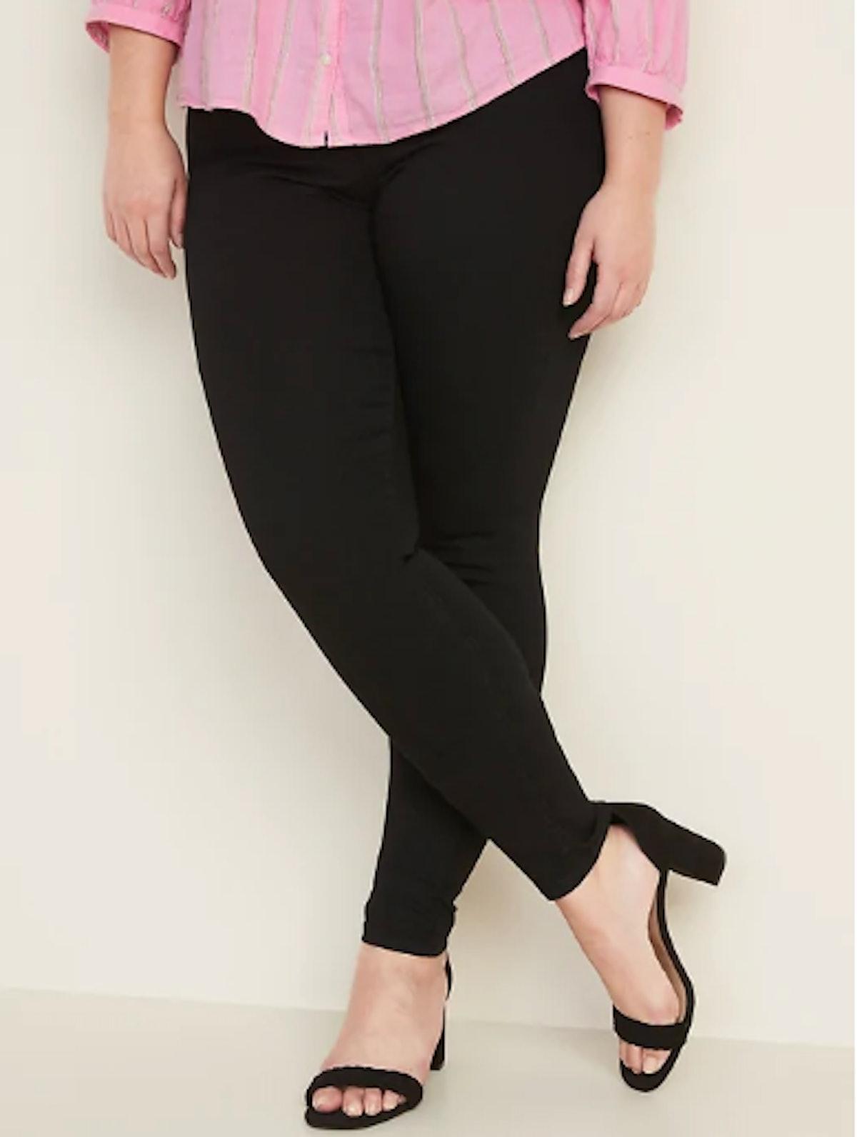 Super Skinny Black Pull-On Jeggings for Women