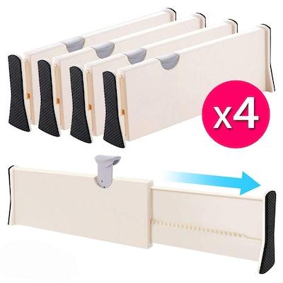 JONYJ Drawer Dividers (4-Pack)