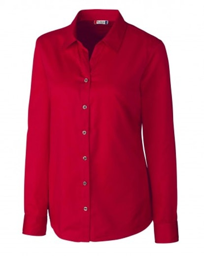 Clique L/S Avesta Lady Stain Resistant Twill Button Down LQW00007 by C&B