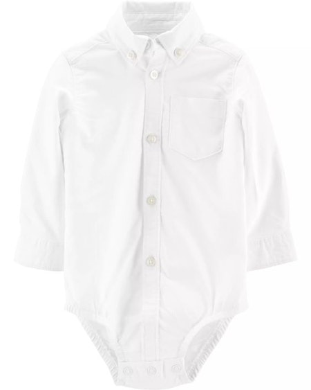 Oxford Button-Front Bodysuit