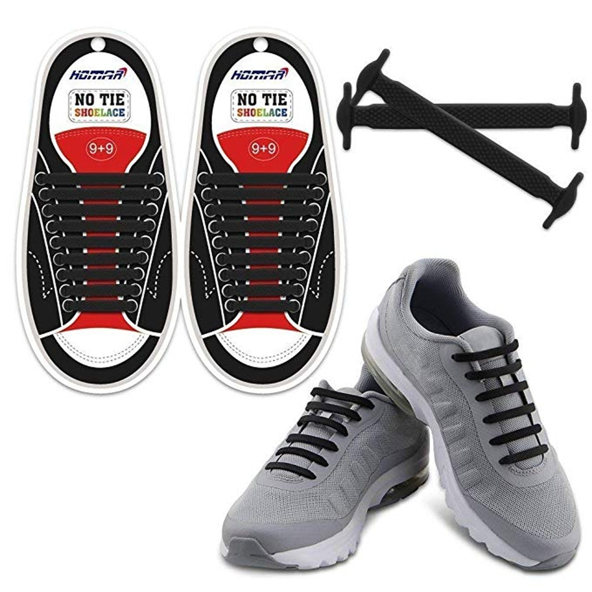 HOMAR No Tie Shoelaces for Kids and Adults