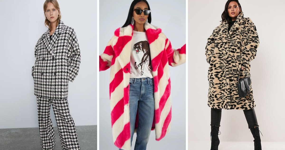 The Best Patterned Coats To Pick Up RN, Because Print Makes For A Kickass Winter Wardrobe