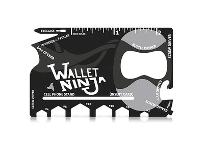 Wallet Ninja 18-In-1 Credit Card Sized Multi-Tool