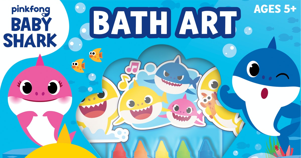 This Baby Shark Bath Art Set Will Make Bath Time Your Kid's Favorite