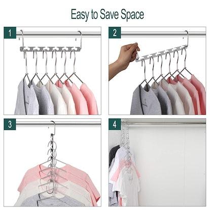 MeetU Space Saving Hangers (12-Pack)
