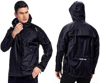 NICEWIN Portable Front-Zip Unisex Rain Jacket