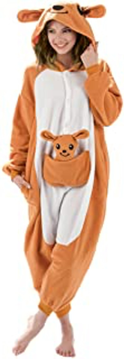 Kangaroo Animal Onesie Costume Pajamas