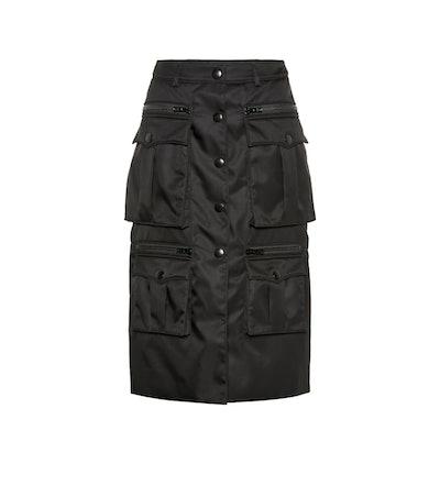 Nylon Midi Skirt