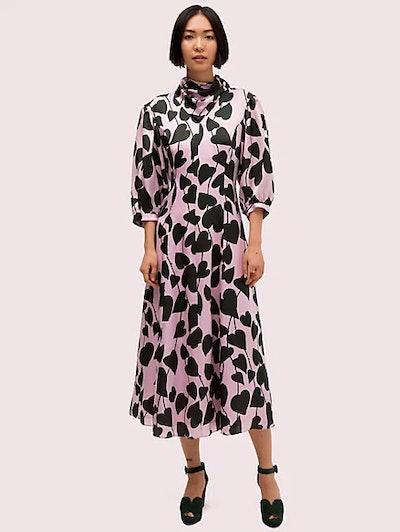 Heart Strings Silk Midi Dress