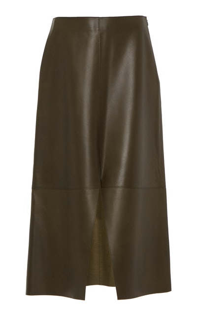 The Pieced Leather Skirt