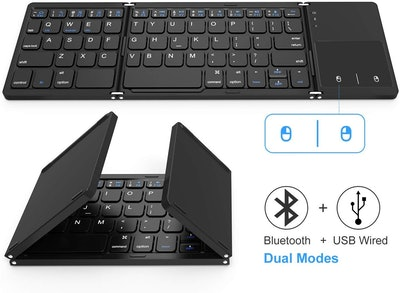 Jelly Comb Foldable Bluetooth Keyboard