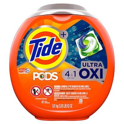 Tide PODS Ultra Oxi Detergent Pacs, 61 pods