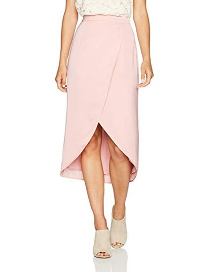 PARIS SUNDAY Satin Tulip Hem Skirt