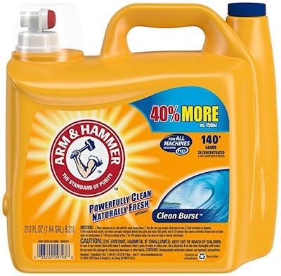 Arm & Hammer HE Liquid Laundry Detergent, 6.21 liters