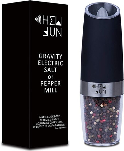 Chew Fun Electric Gravity Pepper Grinder Or Salt Mill