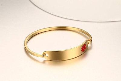VNOX Stainless Steel Medical Alert Bracelet