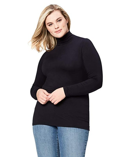 Daily Ritual Plus Size Jersey Turtleneck Top