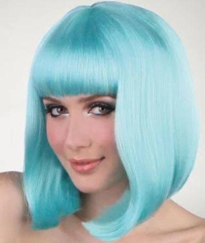 Pageboy Light Blue Wig
