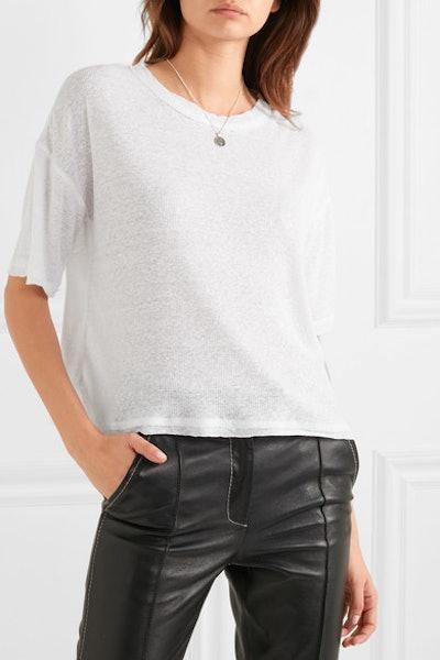 Shadow Slub Linen-Blend T-Shirt
