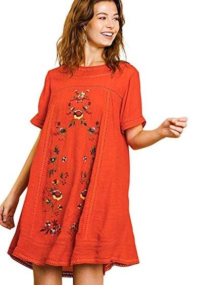 Umgee Bohemian Embroidered Dress