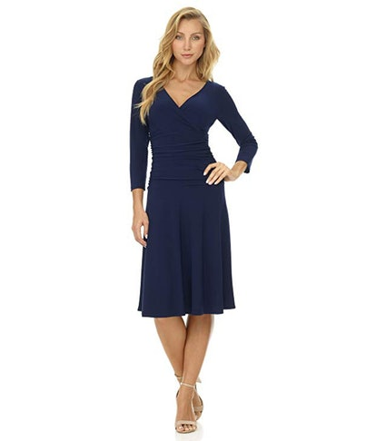 Rekucci Tummy Control Fit-and-Flare Dress