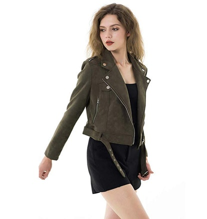 Apperloth Vegan Suede Moto Jacket