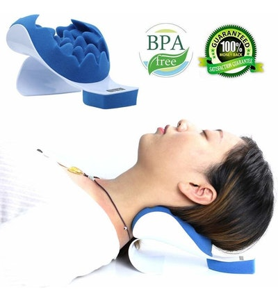 REARAND Neck and Shoulder Traction Pillow
