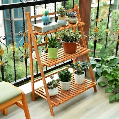 Ufine Bamboo Ladder Plant Stand