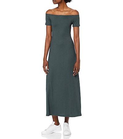 find. Ribbed Off-Shoulder Midi Dress