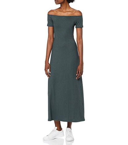 find. Ribbed Off-Shoulder Midi Dress