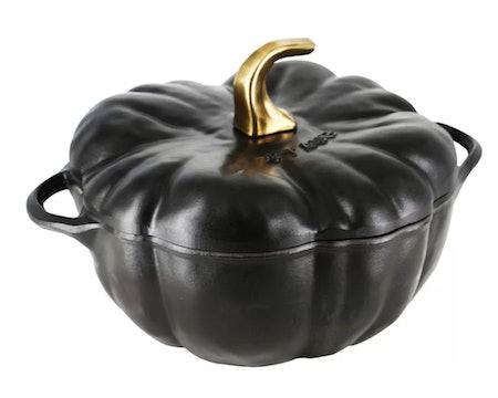 Staub Cast Iron 3.5 Qt. Pumpkin Enamel Round Dutch Oven