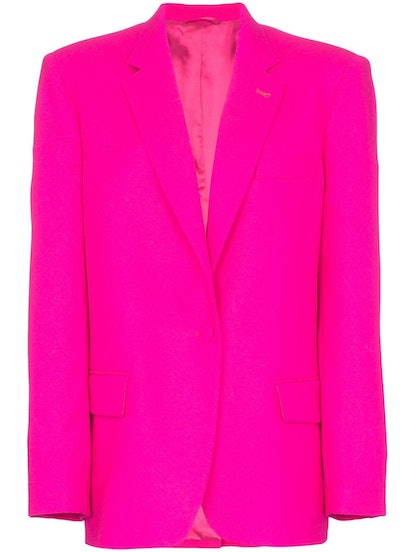 Single-Breasted Oversize Blazer