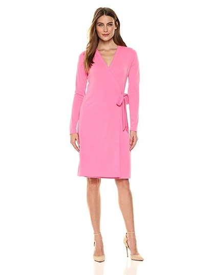 Lark & Ro Signature Long Sleeve Wrap Dress