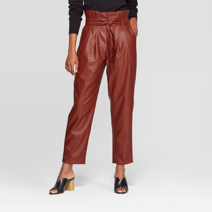 Who What Wear Mid-Rise Straight Leg Paperbag Pants