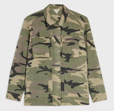 Khaki Camouflage Shacket